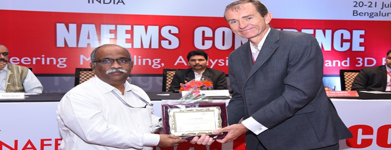 Award @ NAFEMS, Industry Academics Association Programme held on July 2018.