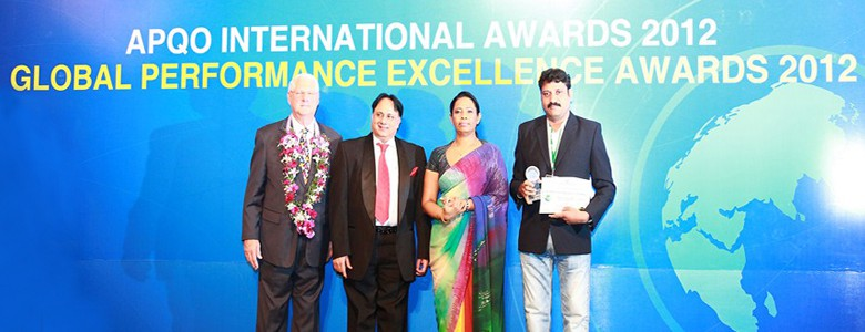 Receiving APQO International Award 2012 for SVES.