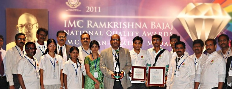 SVES team with the Trophy of IMC RBNQA.